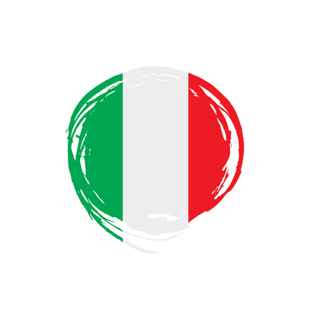 Italy flag, vector illustration on a white background