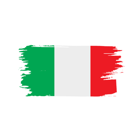 Italy flag, vector illustration on white background.
