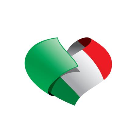 Italy flag, vector illustration on a white background Ilustração