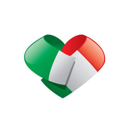 Italy flag, vector illustration on a white background Vettoriali
