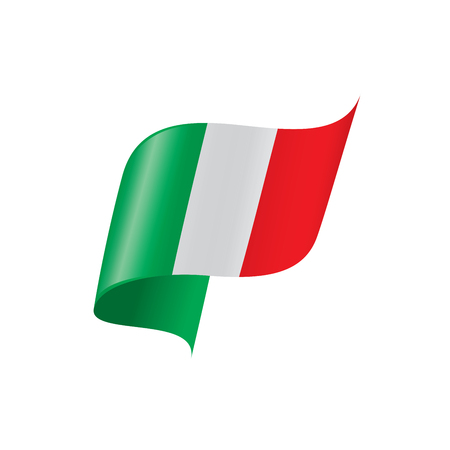 Italy flag, vector illustration on a white background Illusztráció