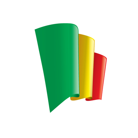 Mali flag, vector illustration on a white background. Vettoriali