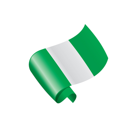 Nigeria flag, vector illustration. Stock Vector - 92888534