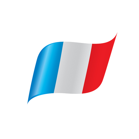 France flag, vector illustration on a white background Иллюстрация