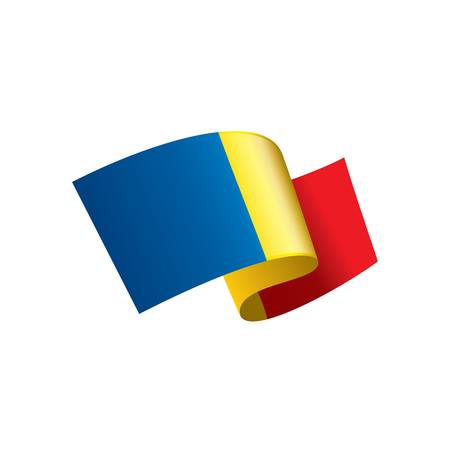 Chad flag, vector illustration.