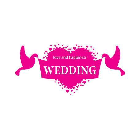 Wedding symbol vector illustration. Stock Illustratie