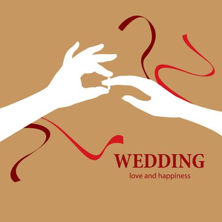 Wedding symbol vector illustration. Vettoriali