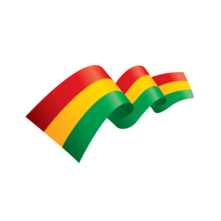 Bolivia Chad flag, vector illustration on a white background Иллюстрация