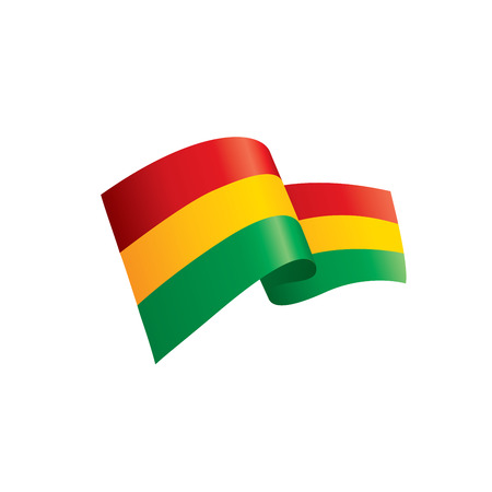 Bolivia Chad flag, vector illustration on a white background Illustration