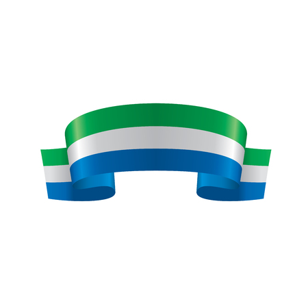 Sierra Leone flag, vector illustration on a white background