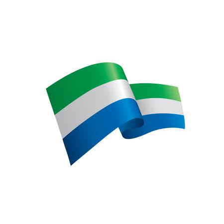 Sierra Leone flag vector illustration