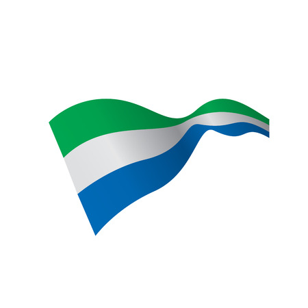 Sierra Leone flag vector illustration