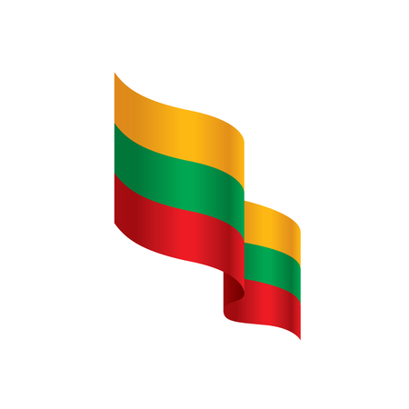 Lithuania flag, vector illustration on a white background Vectores