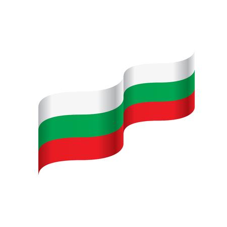 Bulgaria flag, vector illustration on a white background Illustration
