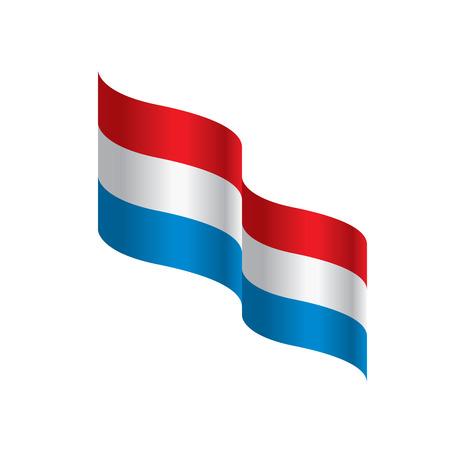 Netherlands flag national patriotic symbol vector illustration