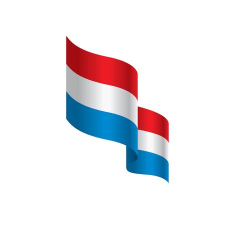 Nederlandse vlag, vectorillustratie op een witte achtergrond.