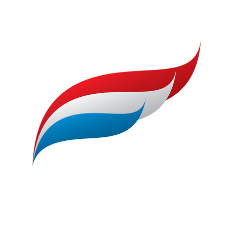 Nederlandse vlag, vectorillustratie