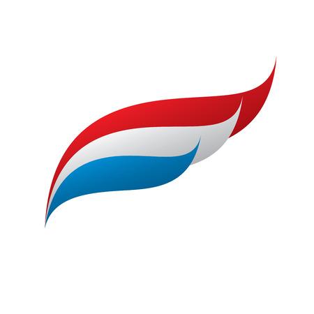 Niederländische Flagge, Vektor-Illustration
