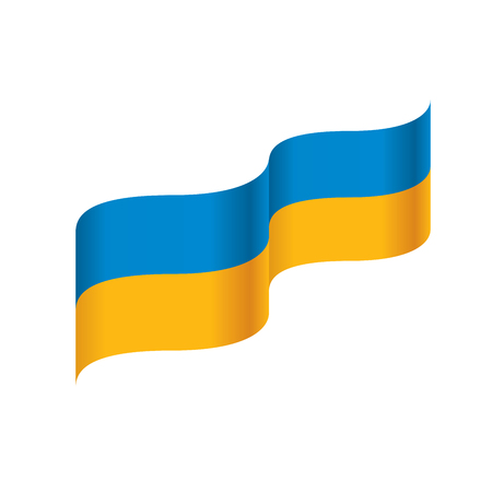 Ukraine flag, vector illustration on a white background