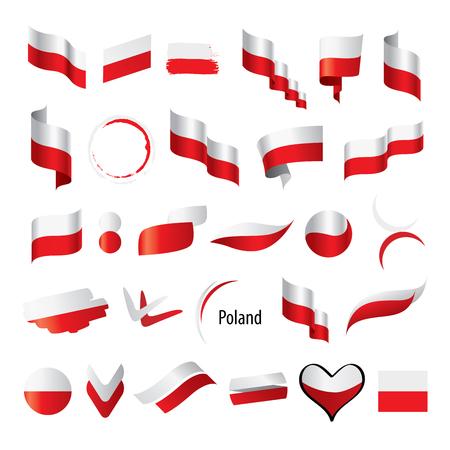 Poland flag, vector illustration on a white background Stock fotó - 92988652