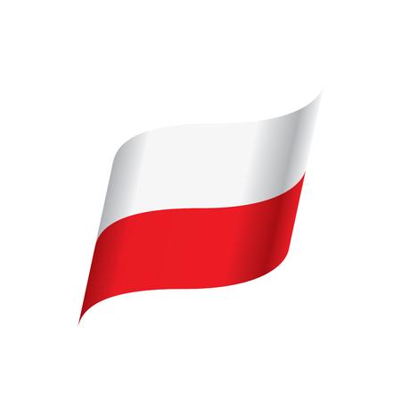 Poland flag, vector illustration on a white background Illustration