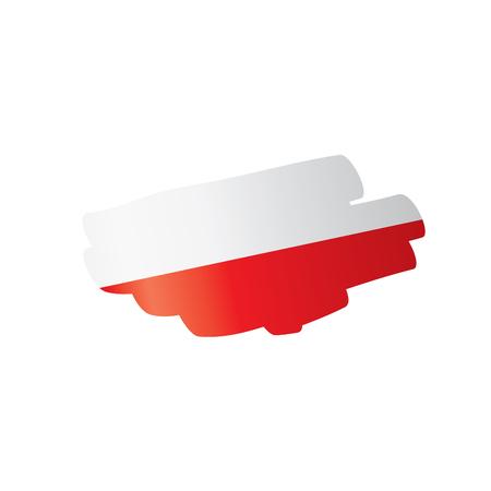 Poland flag, vector illustration on a white background Ilustracja
