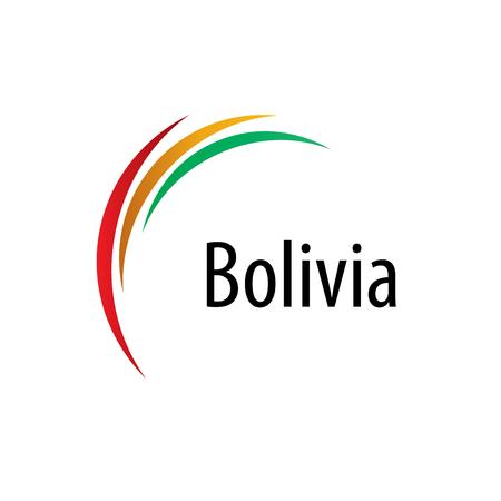 Bolivia flag, vector illustration on a white background Illustration