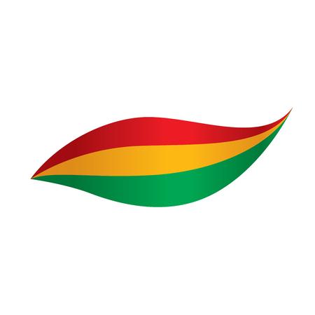 Bandera de Bolivia, ilustración vectorial Vectores