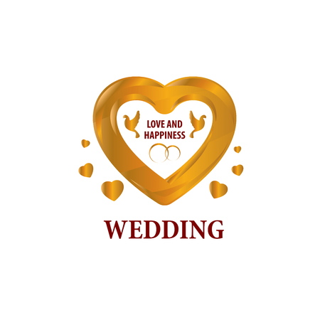 Abstract icon for your wedding. Vector template illustration Illustration