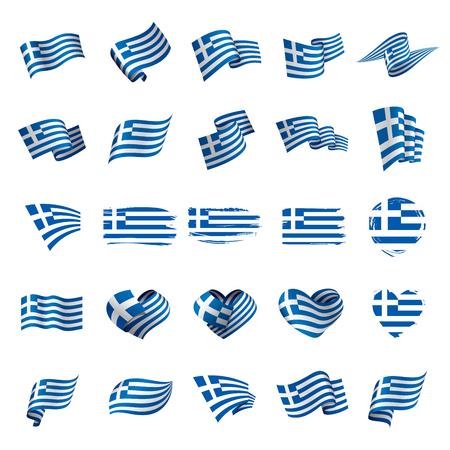 Bandeira da Grécia, ilustração vetorial Foto de archivo - 93016489