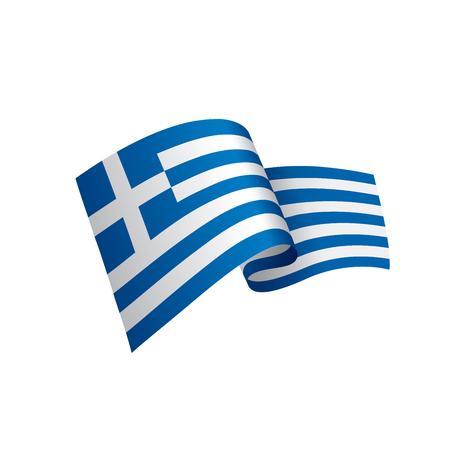 Greece flag, vector illustration