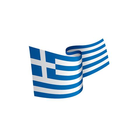 Griechenland Flagge, Vektor-Illustration Vektorgrafik