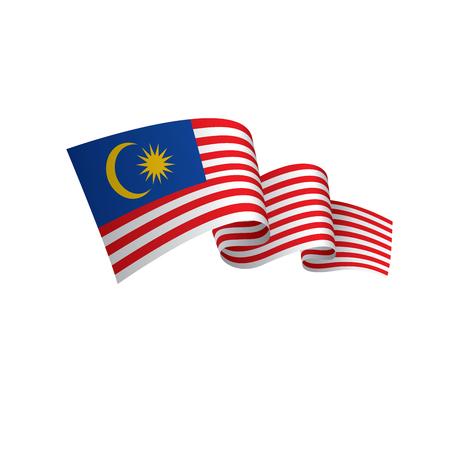 Bandera de Malasia, ilustración vectorial