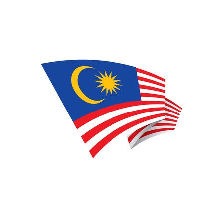 Drapeau de la Malaisie, illustration vectorielle