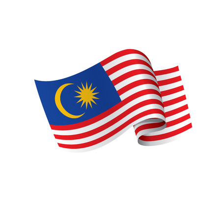 Malaysia flag, vector illustration on a white background