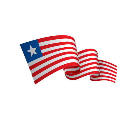 Liberia flag, vector illustration on a white background