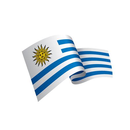 Uruguay flag, vector illustration.