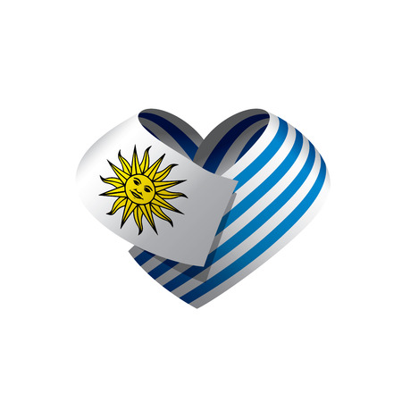 Uruguay flag, vector illustration.