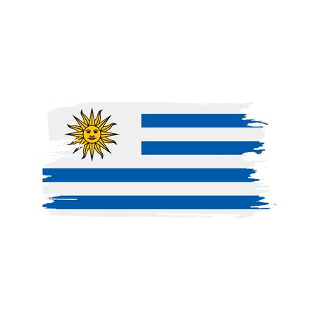 Drapeau de l'Uruguay, illustration vectorielle sur fond blanc Vecteurs