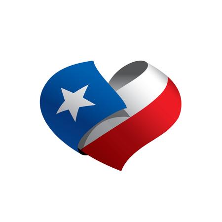 Bandera de Chile, ilustración vectorial sobre un fondo blanco