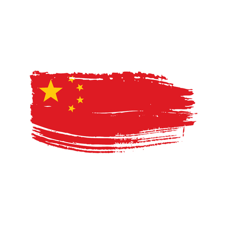 China flag, vector illustration on a white background