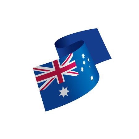 Australia flag, vector illustration Vettoriali