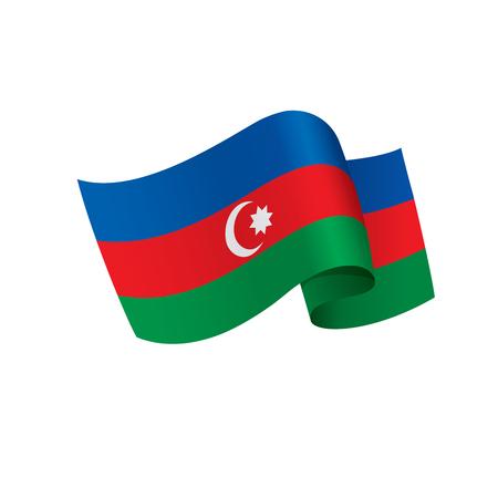 Azerbaijan flag, vector illustration.