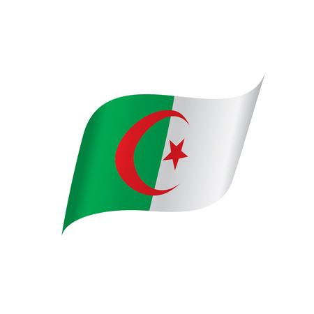 Algeria flag, vector illustration on a white background