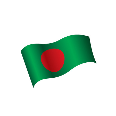 Bangladesh flag, vector illustration. Illustration