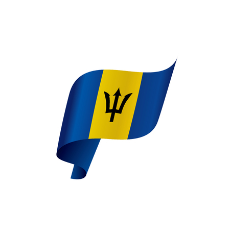 Barbados flag, vector illustration Illustration