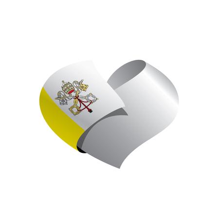 Vatican flag vector illustration.