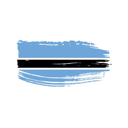 Botswana flag icon illustration. Isolated on white background.  イラスト・ベクター素材