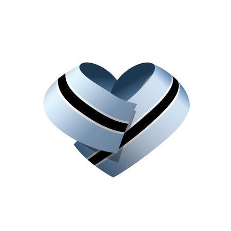 Botswana flag, vector illustration