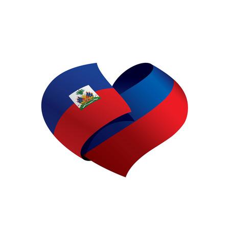 Haiti flag, vector illustration Illustration